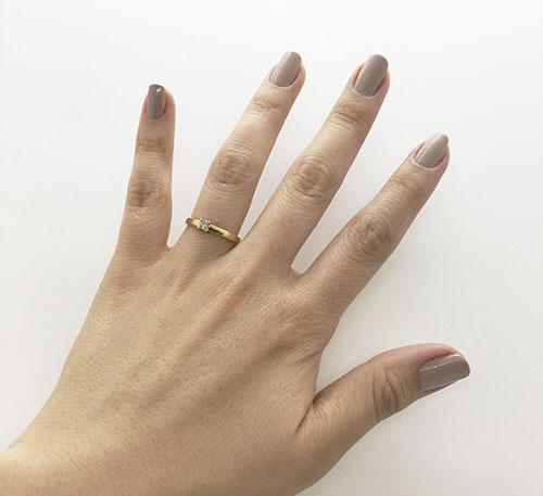 anillo para matrimonio de oro con diamante