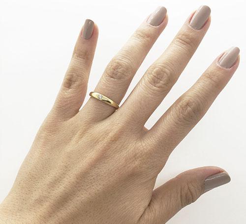 anillo solitario de matrimonio en oro