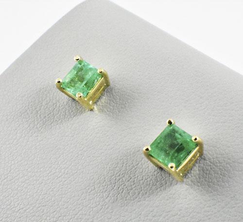 esmeraldas en aretes