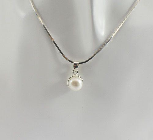 Dije de plata con perla natural ref. 314-005