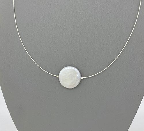 Collar de plata con perlas naturales cultivo de agua dulce