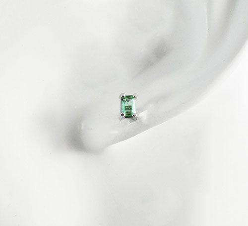 Aretes de plata con esmeralda