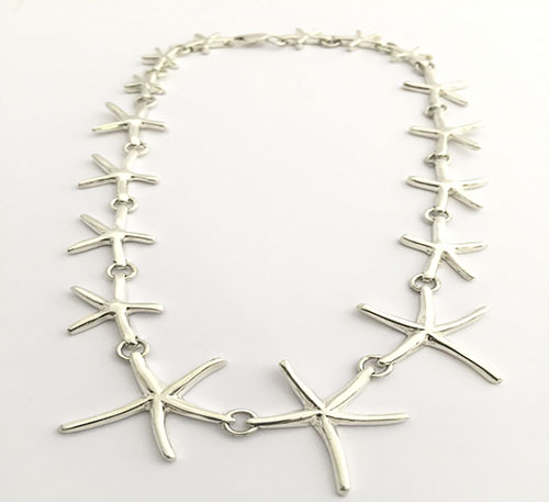collar de plata estrellas de mar