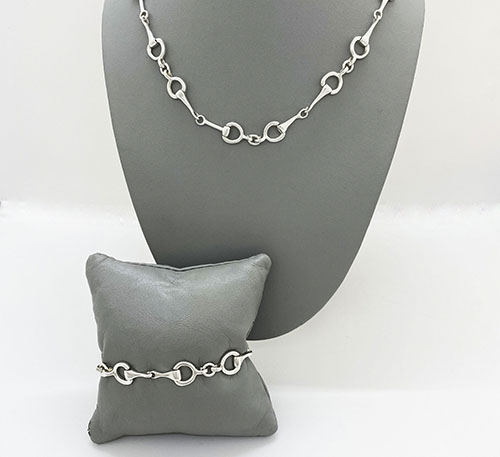Set collar y pulsera de plata