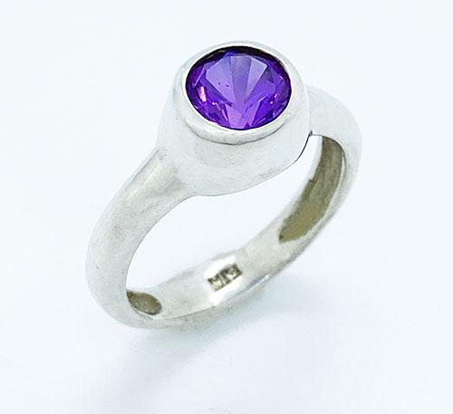 anillo de plata con alejandra