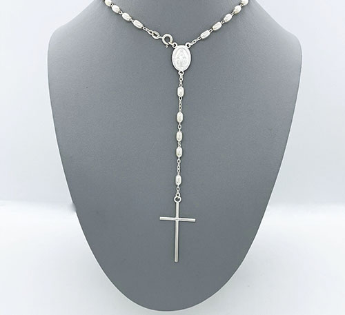rosario de plata ley 0,925